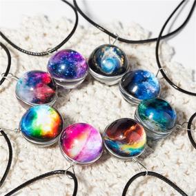 Collar Galaxia Universo Nebulosa Esférico +cajita De Regalo