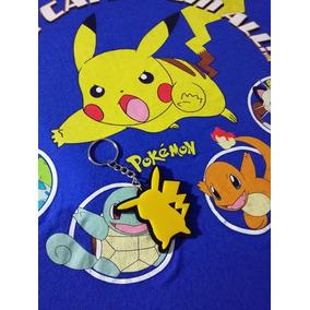2 Playeras Pokémon Y Power Rangers Xs Juvenil + Llavero Pika