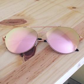 d8e657c9b8b29 Oculos Aviador Espelhado Rosa De Sol - Óculos no Mercado Livre Brasil