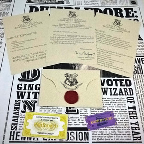 Carta De Aceitação Hogwarts Personalizada Lite Harry Potter