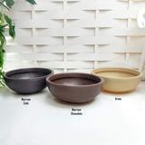 3 Bacias Plástico Terracota Plantas Naturais E Art 50x18 Cm