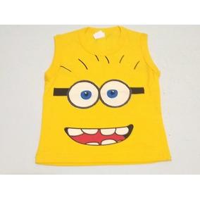 5bc7edfea7d6d Camiseta Regata Infantil Personagens Minions