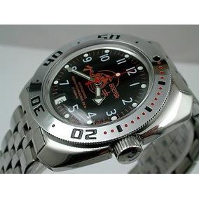 e60d2909c13 Reloj Vostok Amphibian Militar Ruso Azul Automatico Cuerda