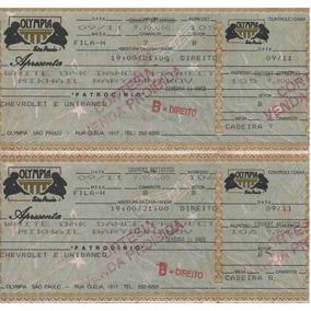 Ingresso De Apresentação Baryshnikov Em São Paulo [1993]
