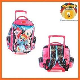 Mochila My Little Pony Con Carro Glitter 17
