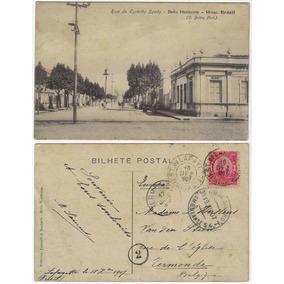 Mg 1907 Cartão Postal Rua Espírito Santo Belo Horizonte Trem