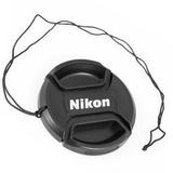 Tapa Frontal Para Lente Nikon 52mm Con Correa Anti Pérdida