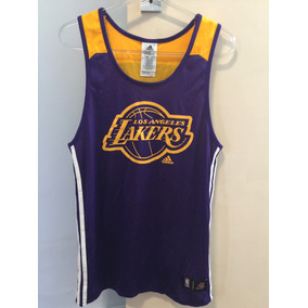 Camiseta regata adidas Los Angeles Lakers Lilás-amarelo 2f1a55d55