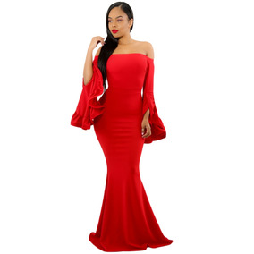 Sexy Elegante Vestido Noche Largo Sirena Fiesta Boda 61981