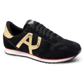 56b38d733bb Armani Jeans Preto Branco - Sapatos no Mercado Livre Brasil