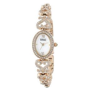 Reloj Badgley Mischka Dama Crystal Swarovski Pulsera Joyería