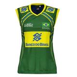 Camisa Regata Olympikus Brasil Vôlei Cbv Feminina Brasileira f00de9acf3555