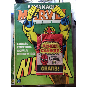Coleção Almanaque Marvel Rge Com Figurinha X-men Aranha Hulk