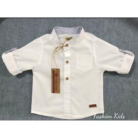 Camisa Social Branca Manga Longa Bebê Menino 1 Mês Á 3 Anos