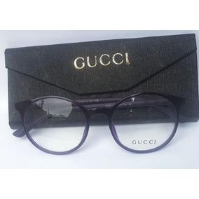 Oculos Gucci Gatinho Redondo Armacoes - Óculos no Mercado Livre Brasil 4c120d1d41