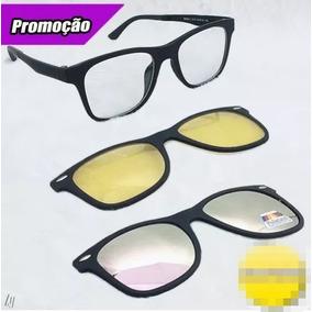 Kit 3 Lentes Clip On Para Óculos De Grau Ou Sem Adaptável - Óculos ... d898cd8b5d