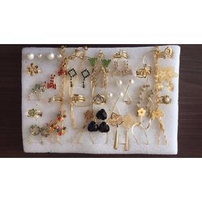 Kit Brincos Pulseiras 40 Peças Semi-jóias Folheadas Atacado