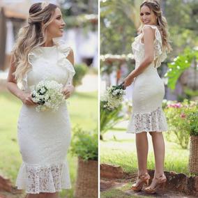 Vestido Casamento Civil, Vestido Pre Wedding De Noiva Branco