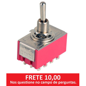 Chave On-on 4pdt 12 Polos Alavanca 6mm (frete Barato)