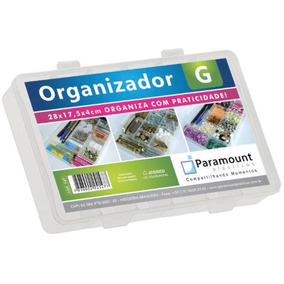 Kit Com 10 Box Organizador G 28x17,5x4 Cr- Paramount