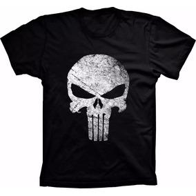 Camiseta Justiceiro The Punisher Camisa Barata Caveira Rock f77b0528291fe