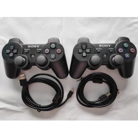 Controle Playstation Dualshock Original 02un/02cabo