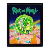 Poster 3d Rick And Morty Portal
