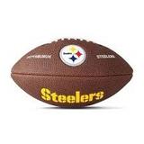Bola Futebol Americano Wilson Pittsburgh Steelers Nfl + Nf 16ee684971bbb