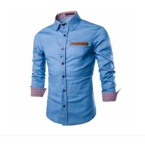 Camisa De Brim Masculina - Camisa Masculino no Mercado Livre Brasil be0c7ccb72535