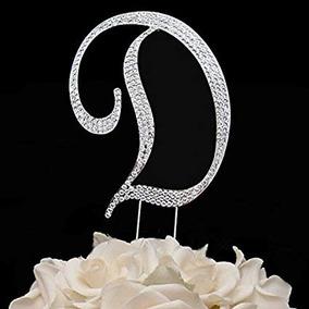 ff2525fca2 Cake Topper Diamantes De Imitación De La Letra D