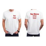 Kit 10 Camisas Personalizada Para Empresas - Frente E Costas