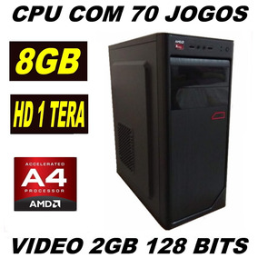 Cpu Gamer Barata 8gb 1 Tera Com 70 Jogos Video 2gb
