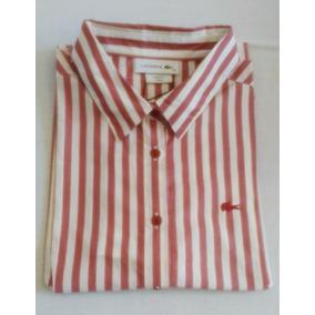 44c8ffa76d9bb Camisa Lacoste - Camisa Feminino Vermelho no Mercado Livre Brasil