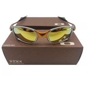 017d39f2139ee Óculos Oakley 24k Dourada + Certificado + Cartão Teste
