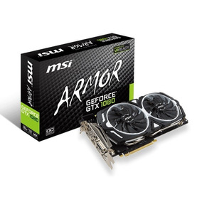 Placa De Video Msi Geforce Gtx 1080 Armor Oc 8gb Ddr5x 256b