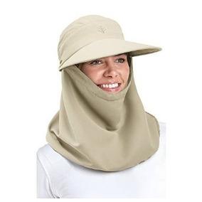 Coolibar Upf 50+ Mujeres Drapeado Sombrero De Sol - Proteger b25e0d30e7d