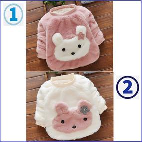 Hermoso Chompa Polera Suéter Para Niñas Bebe Modelo Conejo