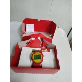 Reloj Puma Original Deportivo Rojo Con Luz