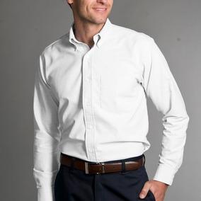 Camisa Hombre Gabardina Manga Larga Yazbek De Oficina