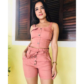 Conjunto Cropped Mais Shorts Clochard