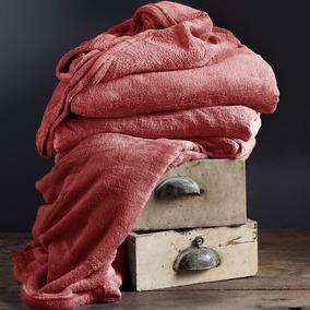Cobija Flannel Fleece Coral Doble-extradoble