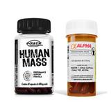 Alpha Axcell Termogênico + Pré Hormonal Human Mass