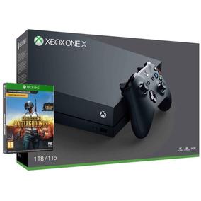 Xbox One X De 1tb Microsoft 1787 Bivolt + Jogo Pubg - Preto