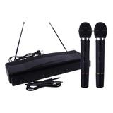 Set Doble Micrófonos X2 Inalámbricos Profesional Karaoke