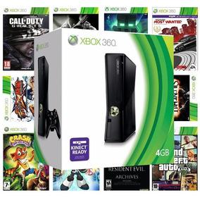 Xbox 360 Desbloqueado Ou Destravado Com 3 Jogos