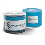 Bandagem Elástica Adesiva Azul Claro Kinesiosport 5cmx5mts