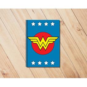 Caderno 96 Folhas Super Heróis Dc - Mulher Maravilha