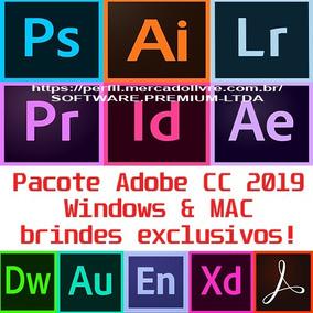 Pacote Adobe Premiere Photshop Illustrator Lighroom E Outros