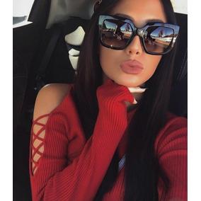 Óculos Feminino De Sol De Luxo Moda 2019 Blogueiras Grande ae07ed39d5