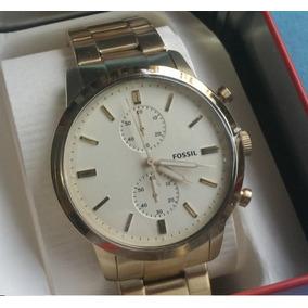 df62cb9d8349 Nuevo Reloj Fossil Hombre Oro 100 Original Importado D Casa